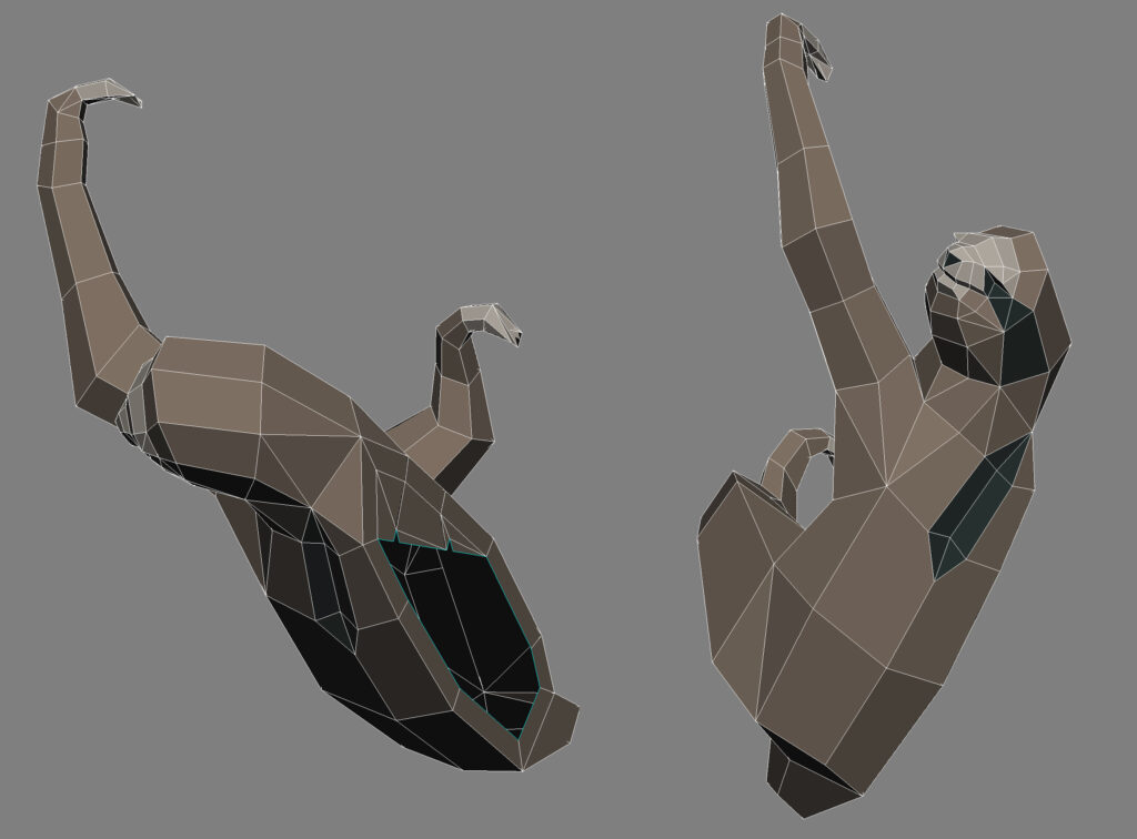 3D-Modell Faultier
