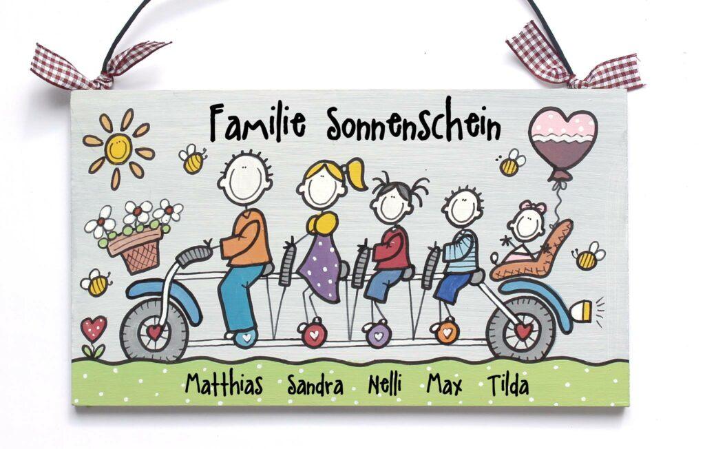 Holztürschild Familie Sonnenschein