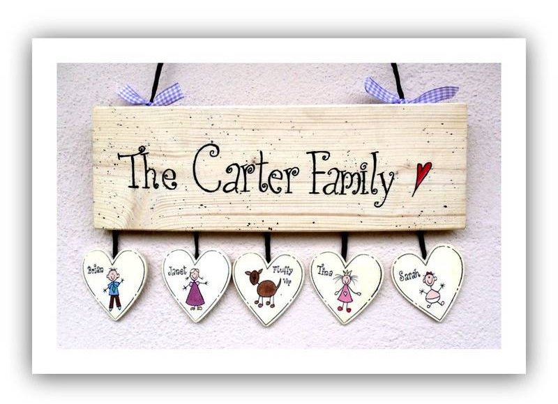 Holztürschild The Carter Family