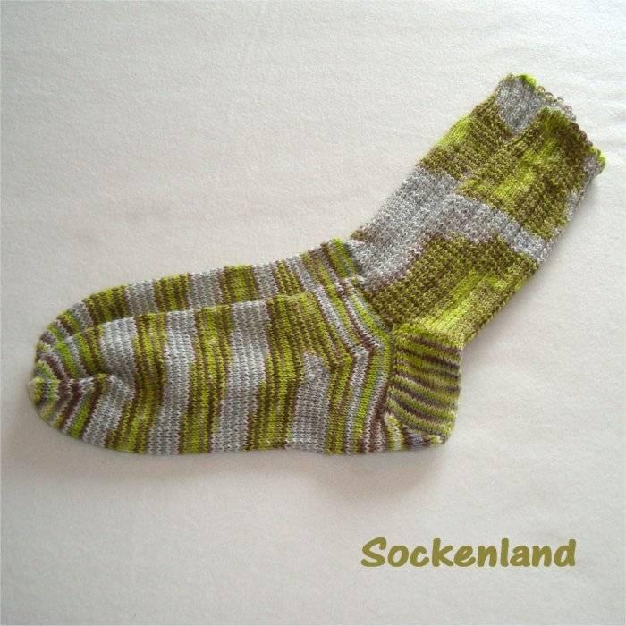 handgestrickte Socken, Gr. 44/45, Strümpfe, Herrenstrümpfe in braun, grau, senf und natur, Herrensocken Einzelpaar Bild 1